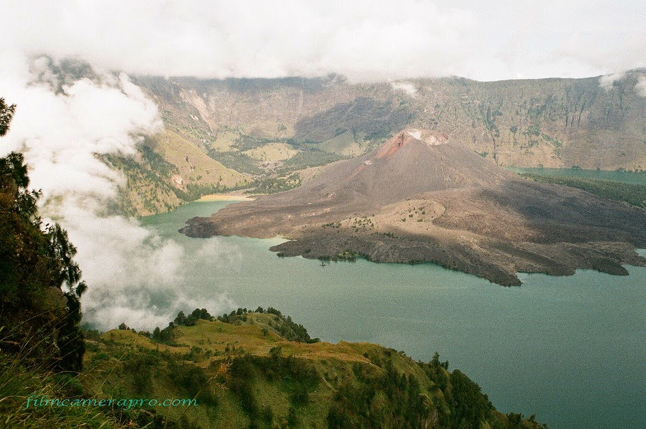 caldera of Rinjani