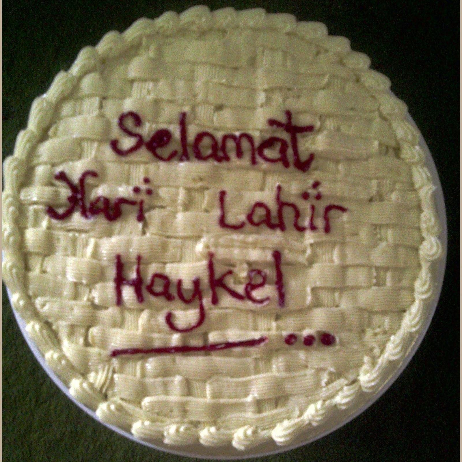 Cake Images With Name Hari : Bakerlicious Cupcakery: Selamat Hari Lahir Haykel - Red ...