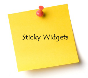 sticky widget
