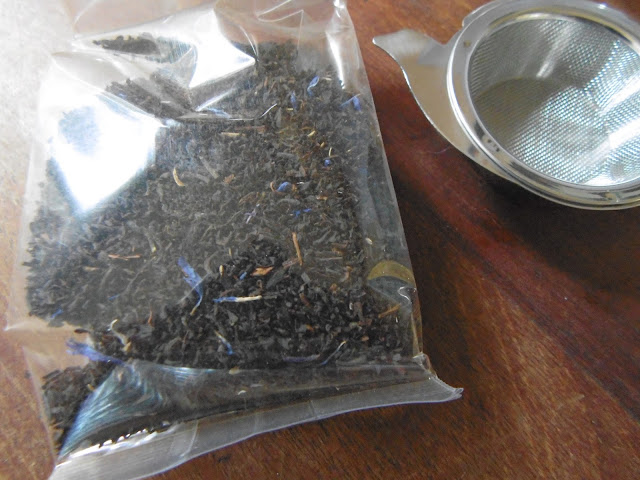 loose tea and tea strainer