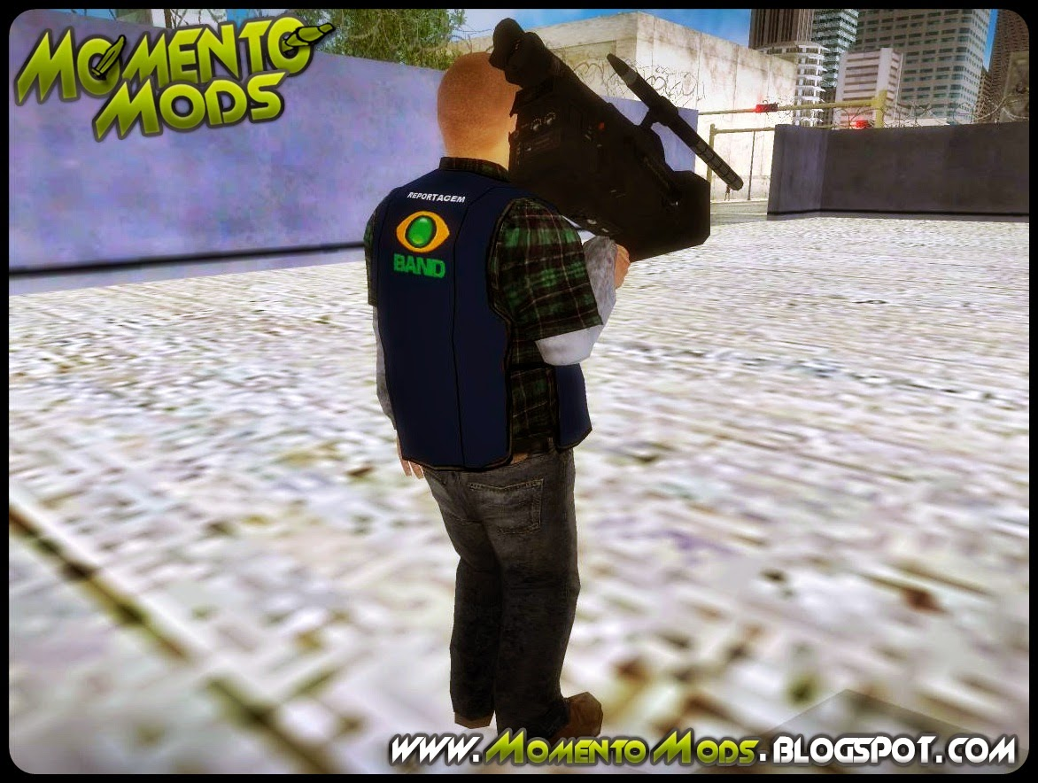 GTA SA - Skin Cinegrafista Da Band + Camera