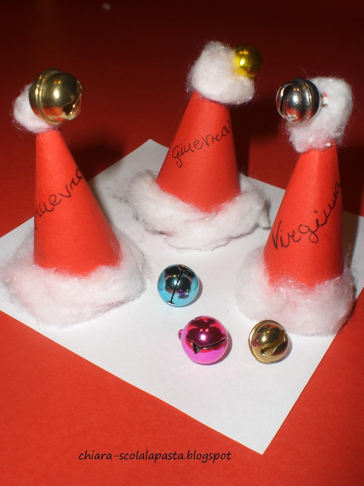 Segnaposti di Natale , Cappello di Babbo Natale