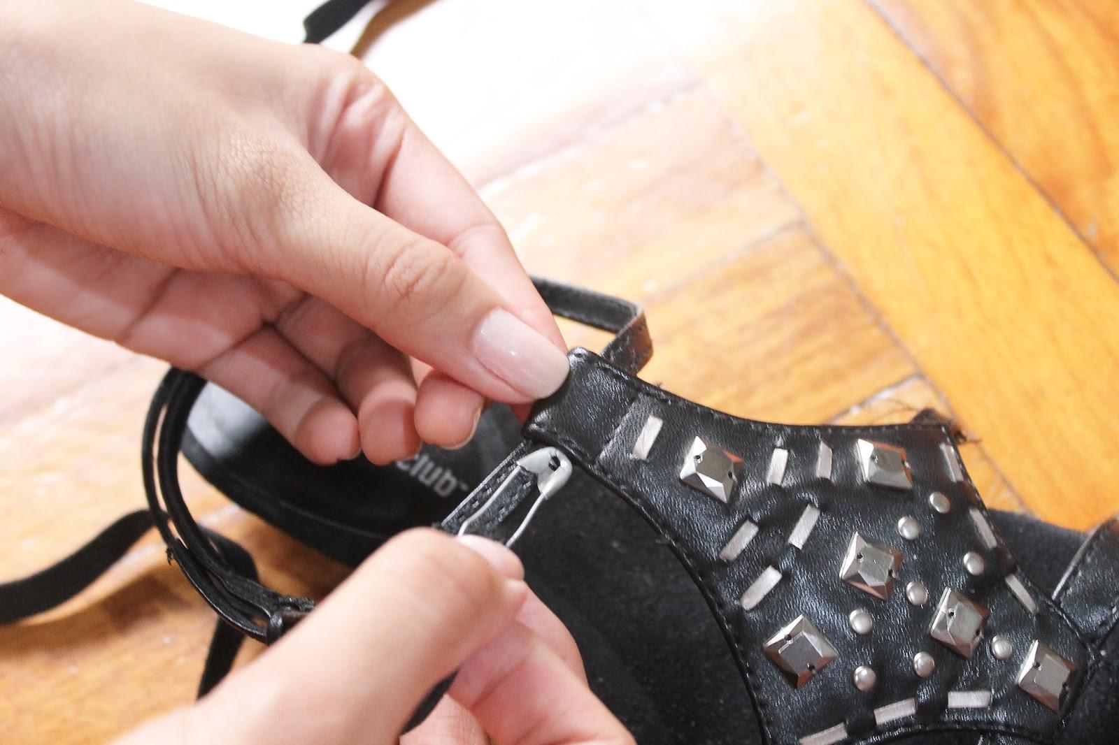 DIY: Tie-up Gladiator Sandals