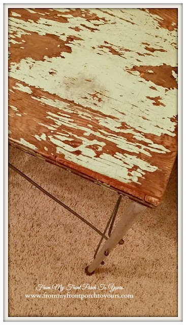 Chippy Side Table-A Day Antiquing- Antique Shopping