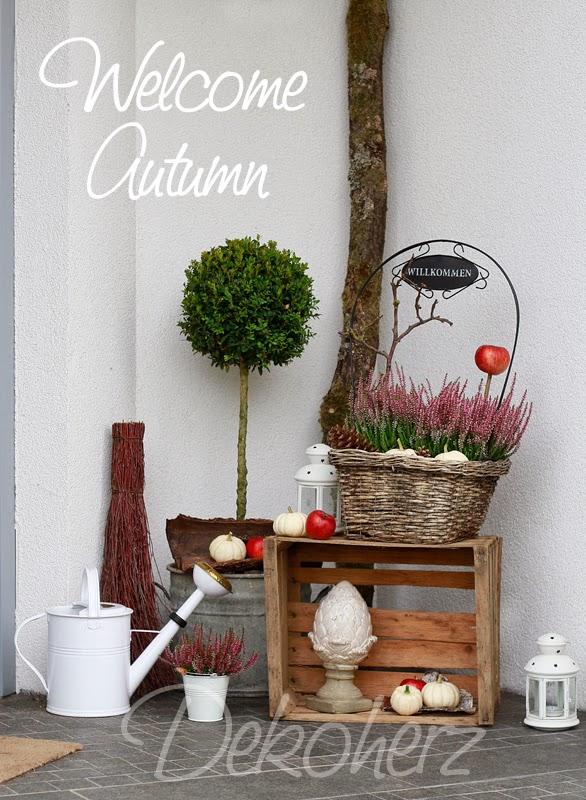 orange farbakzente herbst dekoration ideen küchen interieur