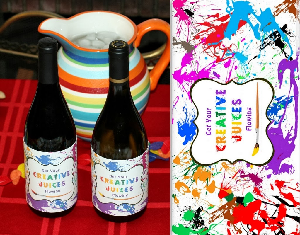 Invite and delight painting party for Wine paint party