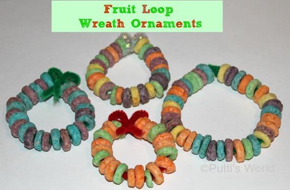 Christmas Kids Craft- Fruit Loop Wreath Ornaments