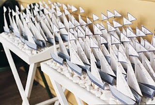 Sail Boat Place Cards wedding