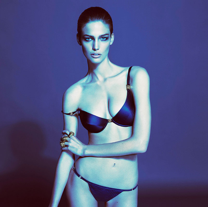 Kendra Spears for Versace Spring 2013 Underwear Collection