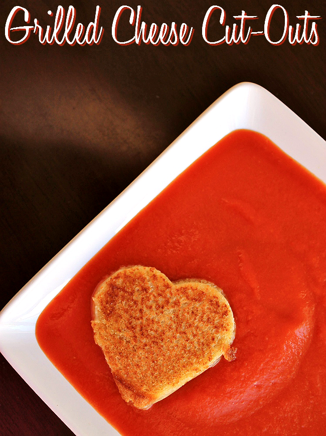 Grilled cheese cut-outs for Valentine's Day #ShareYourCheesy #Client