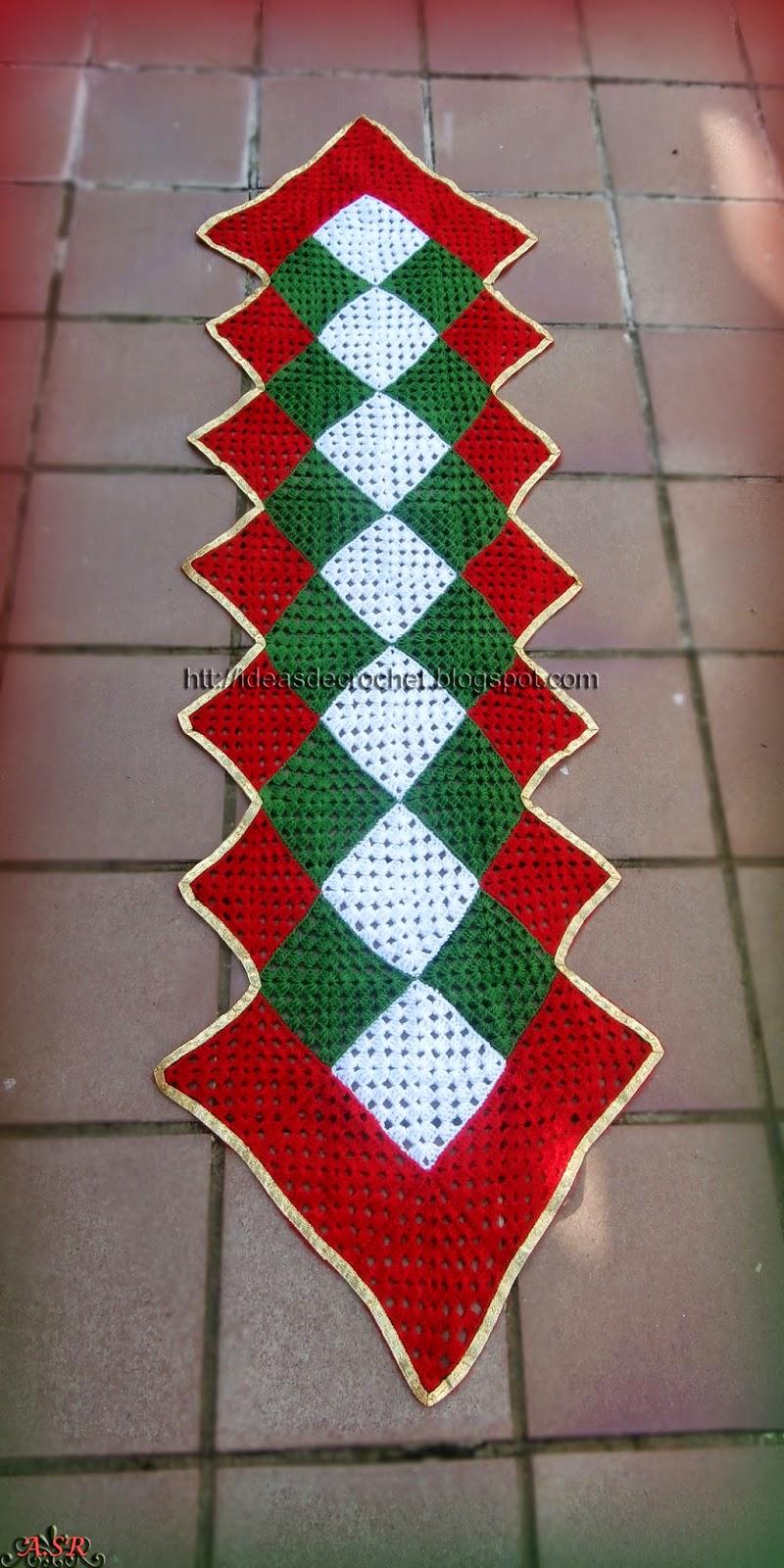 Ideas de crochet noviembre 2014 - Camino de mesa elegante en crochet ...