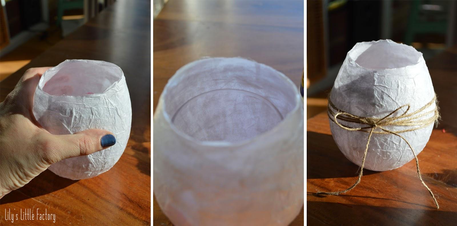 Table de p ques un vase imitation oeuf d 39 autruche ou dinosaure lily 39 s little factory - Enlever colle sur verre ...