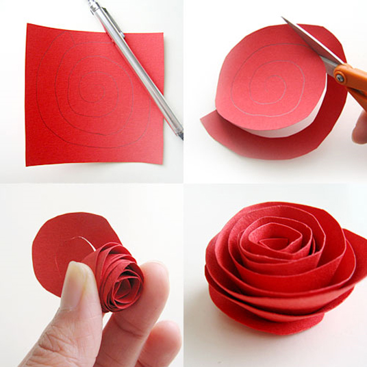Розы своими руками из бумаги