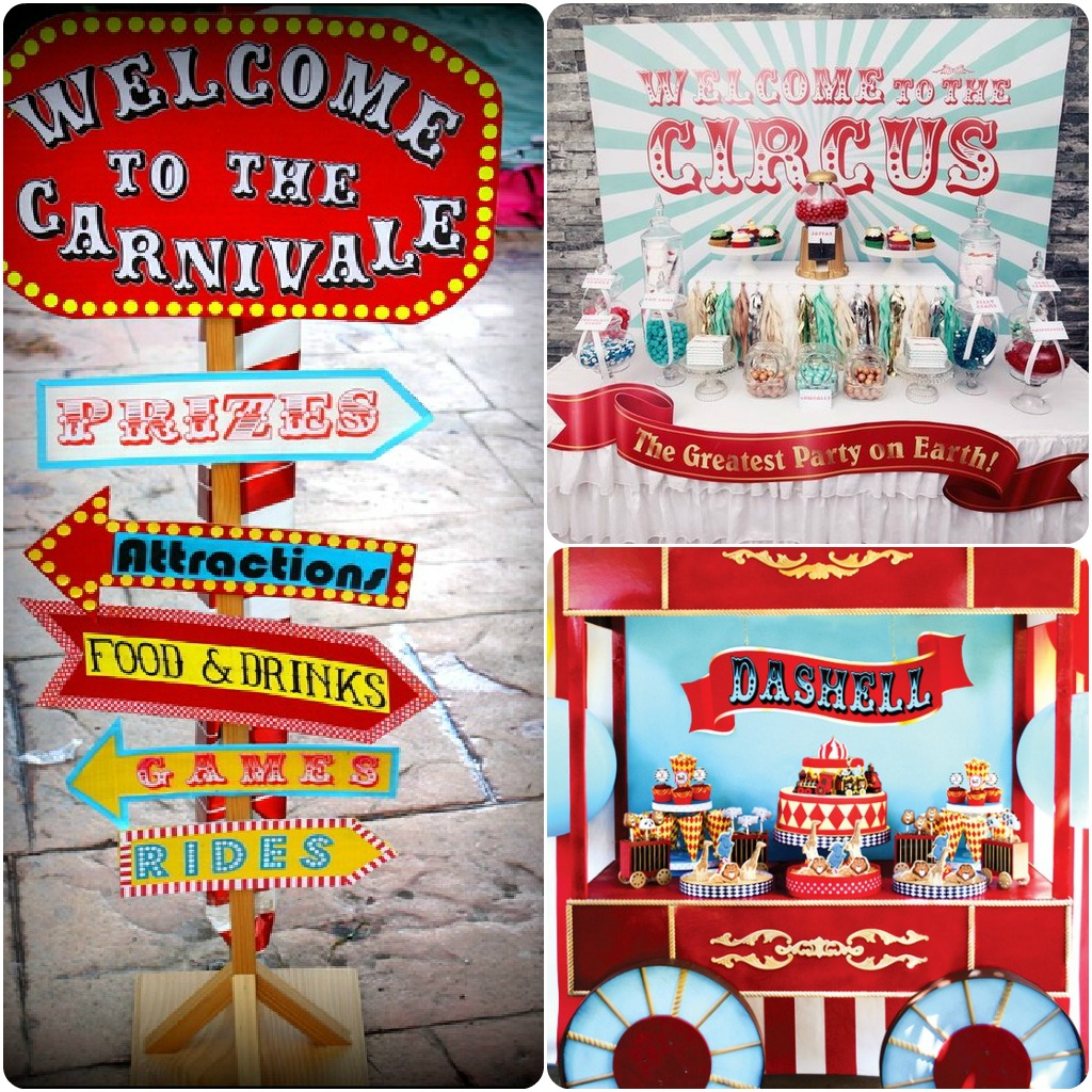Circus Themed Birthday Party On Pinterest Myideasbedroom Com