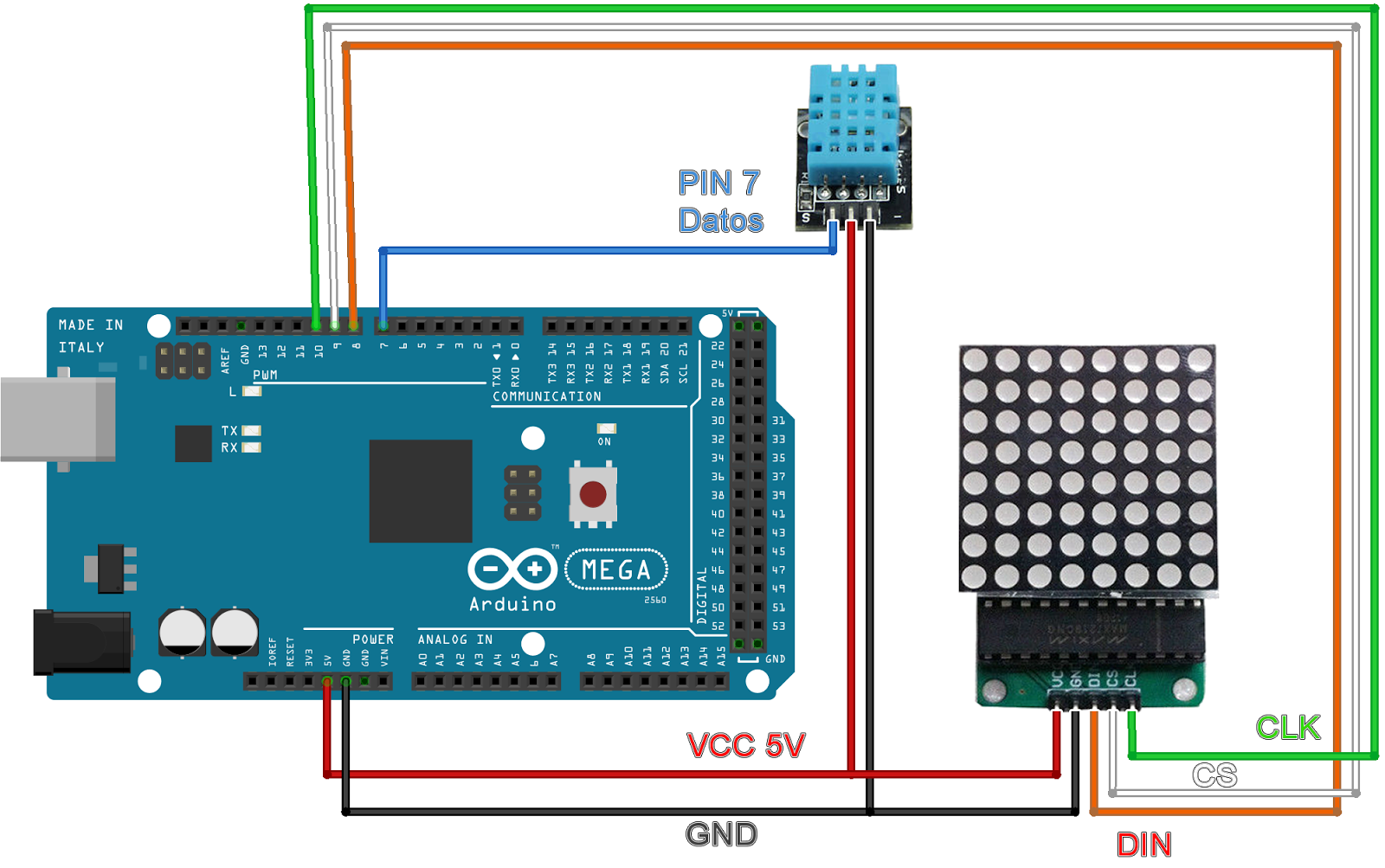 RA8875 - 7 inch display with Arduino mega - Index page