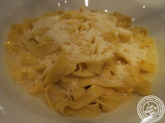 Image of Homemade tagliatelles with butter and parmesan sauce at Montpeliano Italian restaurant in London, England