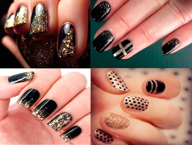 unha, nail art, esmalte, preto, inspirações