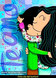 te amo pareja abrazada día del Hombre