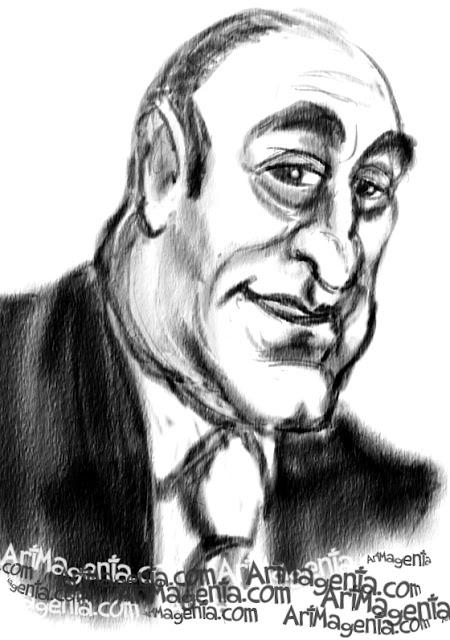 James Gandolfini is a caricature by caricaturist Artmagenta