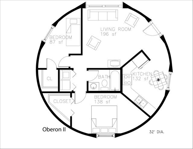 Monolithic dome home floor plans an engineer 39 s aspect for Round house plans free