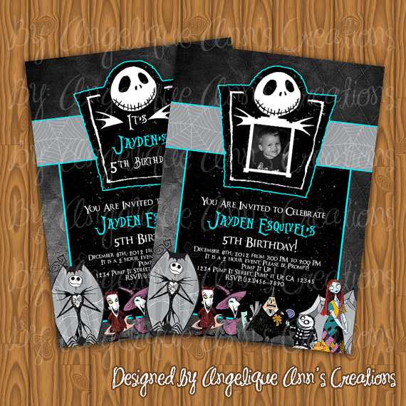 The nightmare before christmas baby shower diy nightmare before i put the file on a usb drive and went to cvs pharmacy to print off the invitations i went to the photo kiosk and just plugged it in and chose what size filmwisefo