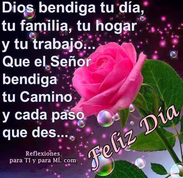 Que el Señor bendiga tu camino y cada paso que des...