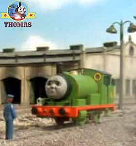 Number 6 percy told the driver about big blue edward the train henry