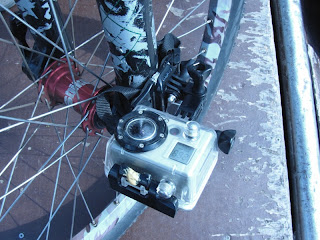 GoPro Camera Attached to Bike Fork
