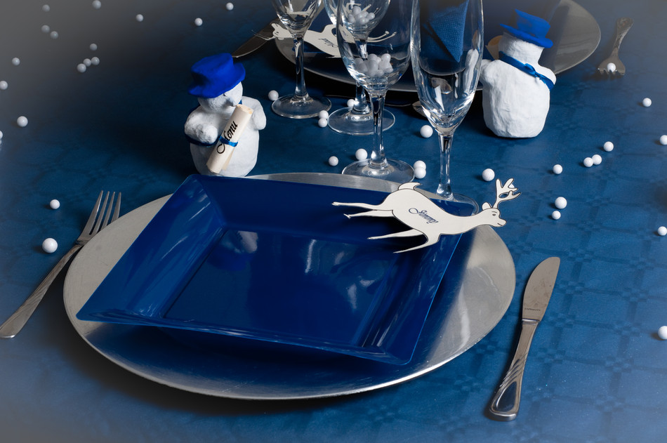 Ma d co passe table table de no l n 4 bleu for Deco de noel bleu et argent