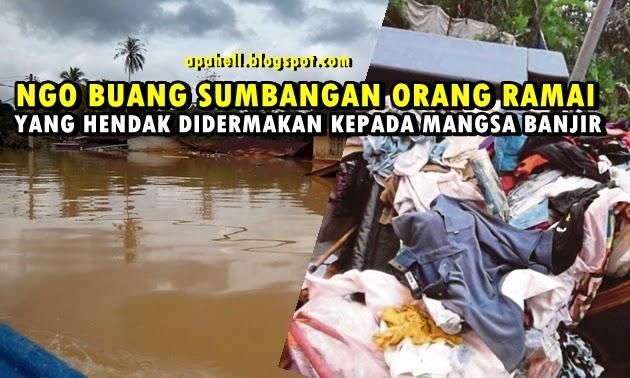 NGO Buang Sumbangan, Penduduk Kecewa (2 Gambar)