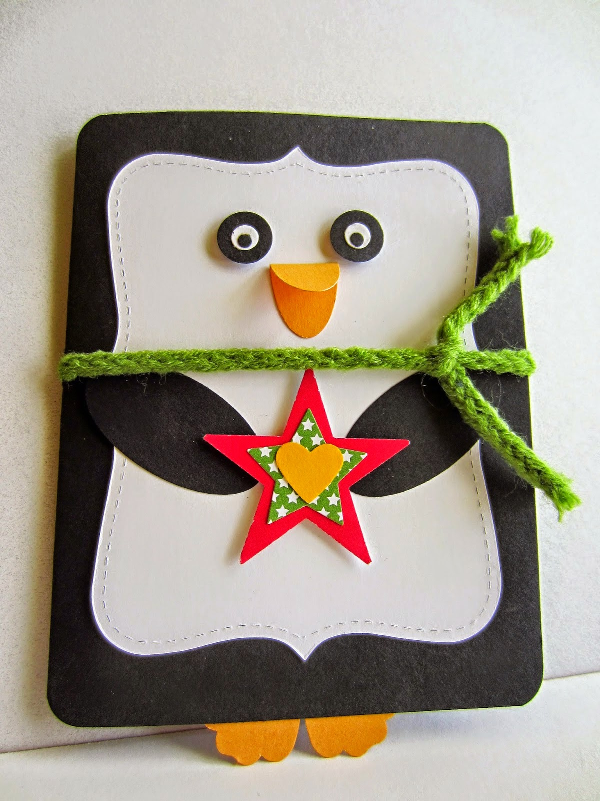 christmas penguin card diy