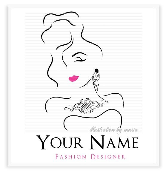 logo diva feminine boutique logos girly girl logo