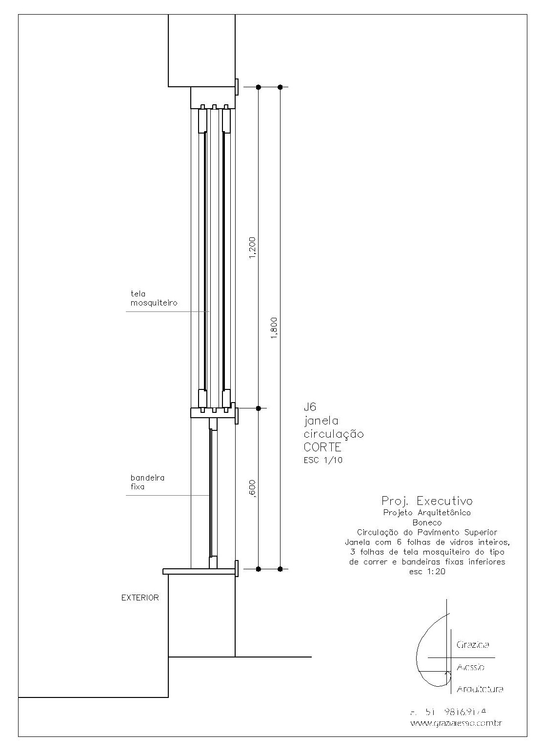 As janelas J7 e J8 foram pensadas para a iluminação do vão da  #3D3D3D 1111 1547