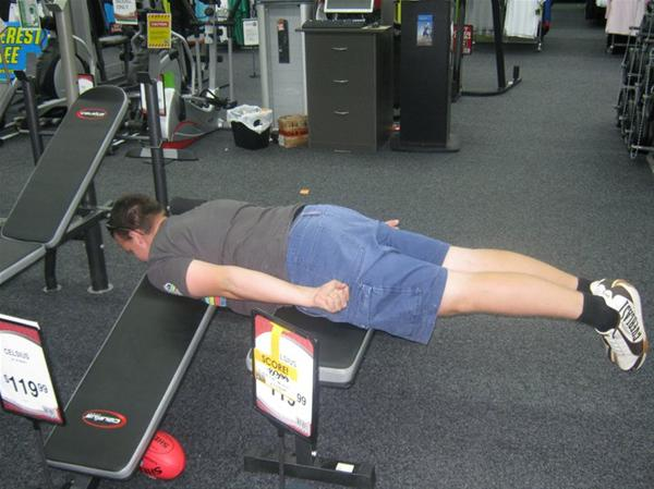 planking pictures. Planking on sport equipment.