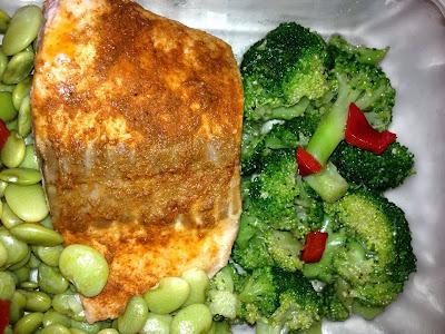 10 minute salmon dinner with seafood seasoning