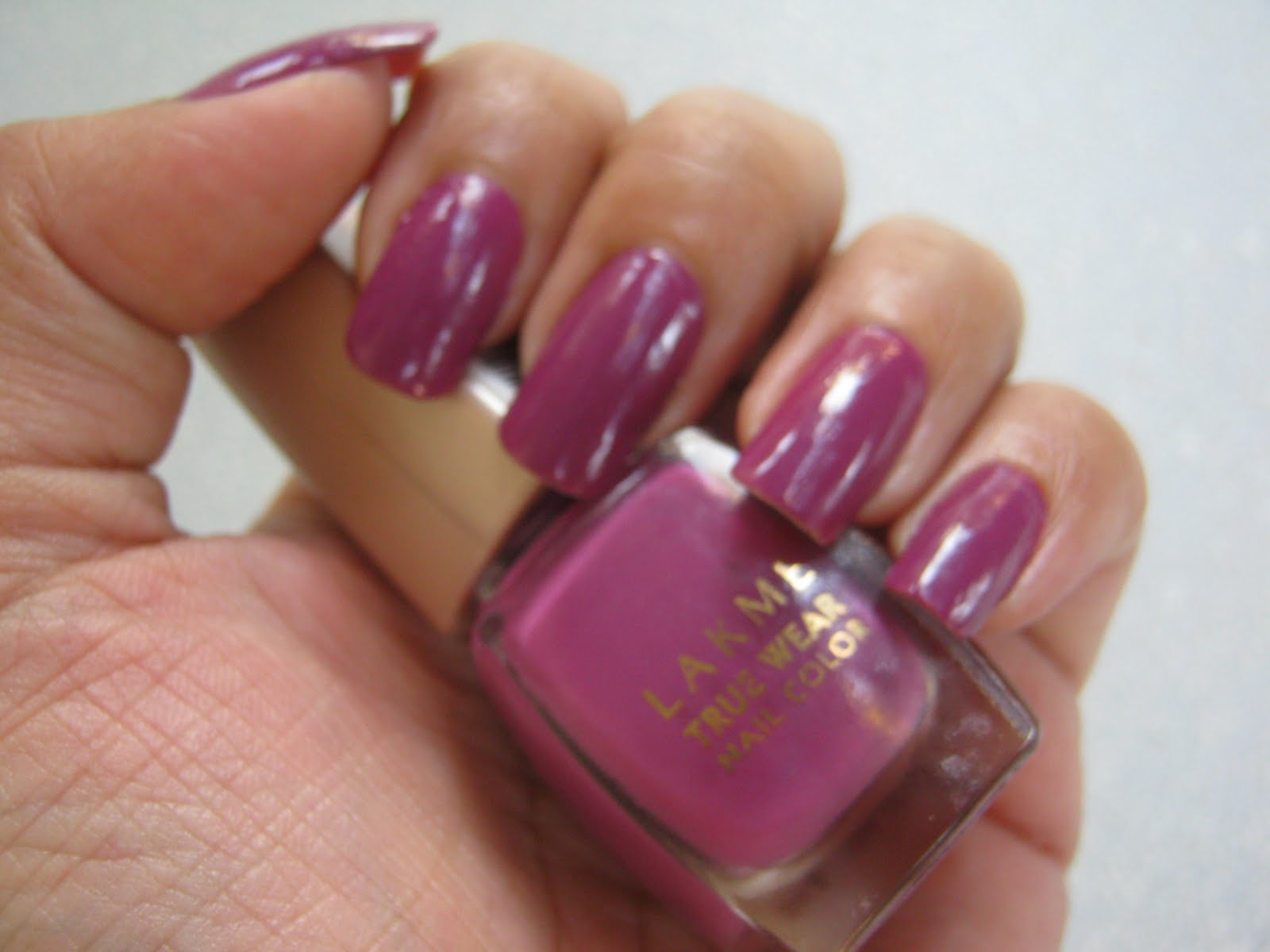 LAKME TRUE WEAR NAIL COLOR FREESPIRIT N236 NARENDRA KUMAR SWATCHES REVIEW