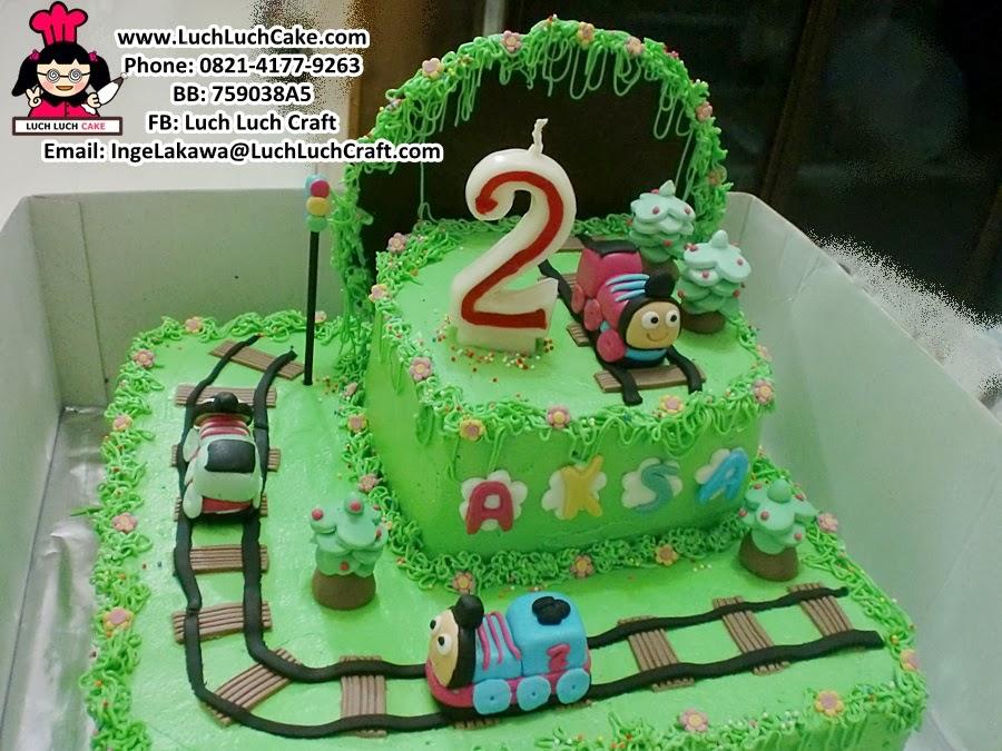 Kue tart ulang tahun thomas the train