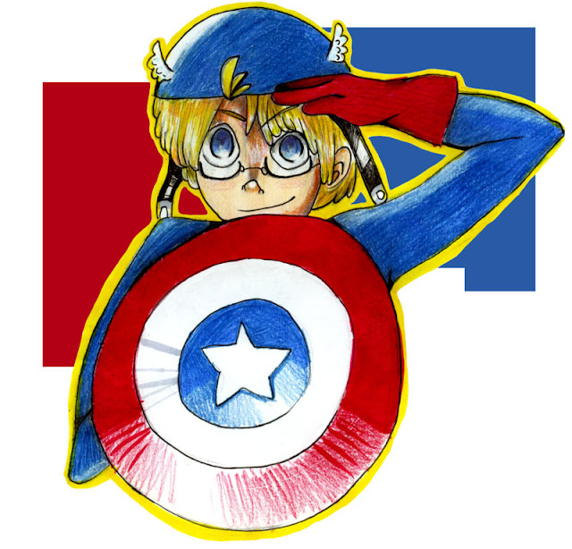 Alfie's captain America por Libideth