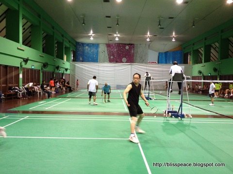 The badminton tournament I played yearly......