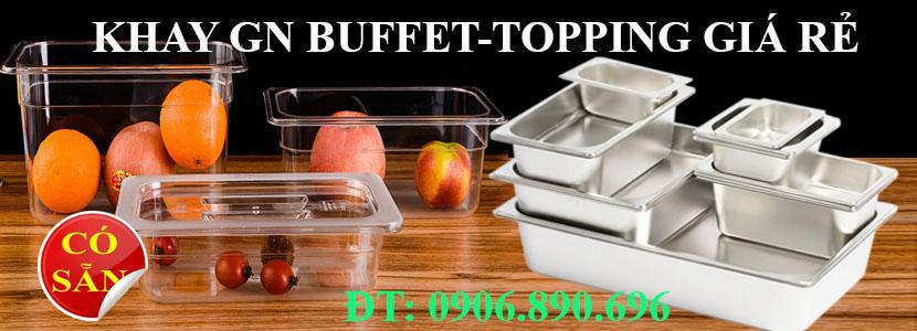 Khay inox nhựa mika đựng thực phẩm buffet topping giá rẻ