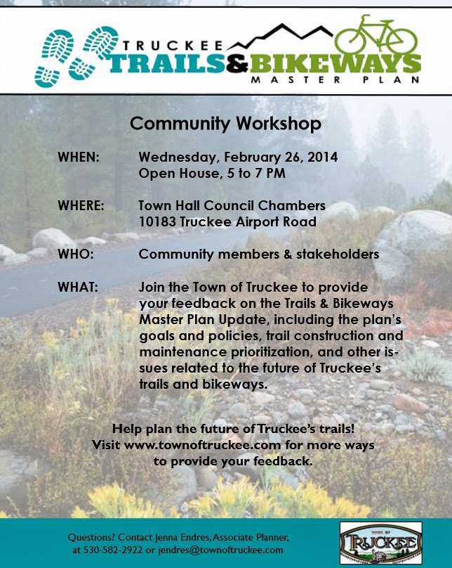 Truckee trail planning workshop February 26, 2014.