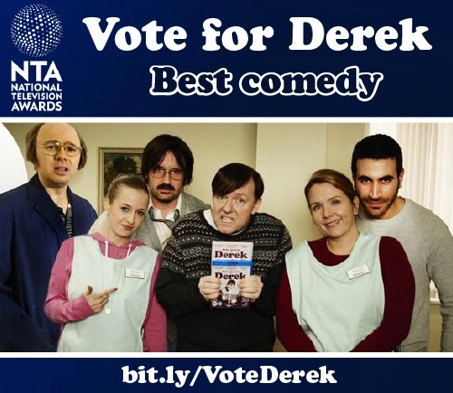 Derek nominated for National TV Awards