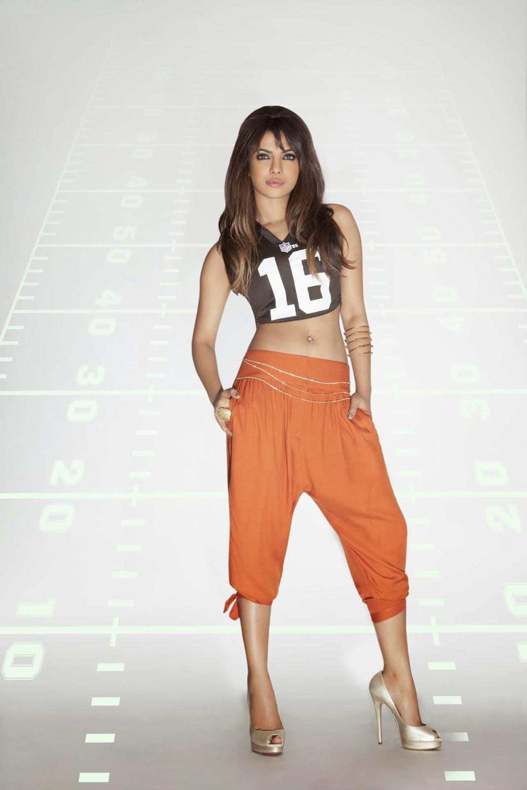 Priyanka Chopra's Sexy Legs in NFL Jersey & Jinny Pants