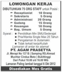Lowongan Kerja Sekolah Al Azhar Palembang
