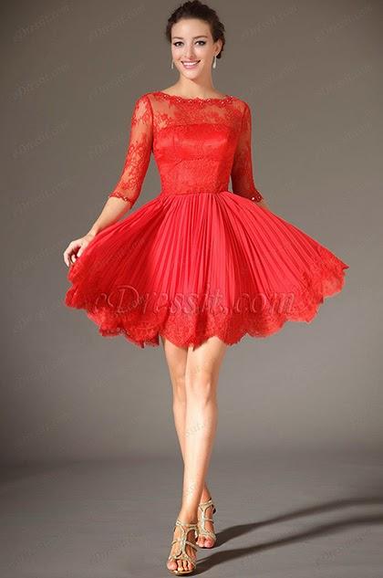 Платья из кружево коротко-длинное