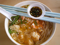 Prawn mee soup