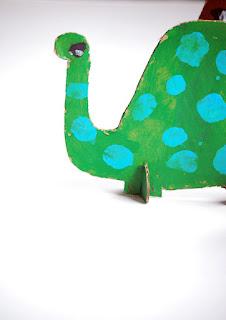 Reciclatex Animales de cartón en 3D