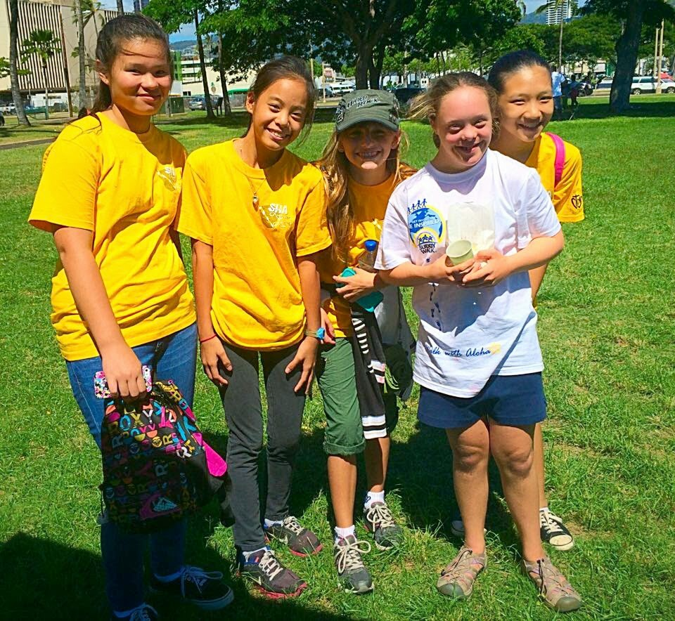 Sacred Hearts Academy Leos supports Down Syndrome 'Ohana of Hawai'i