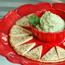 Cannelini Dip &amp; Herbed Pitas