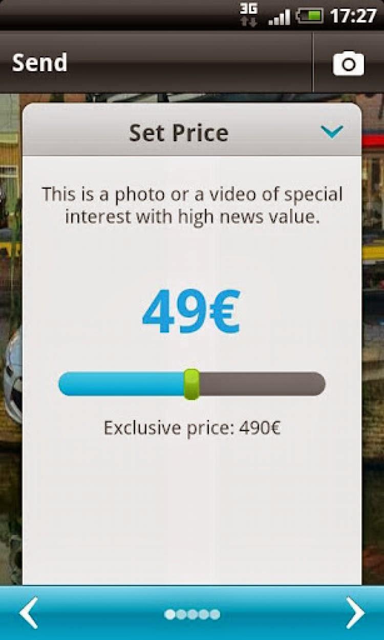 صورة توضح وضع سعر للصورة للبيع
